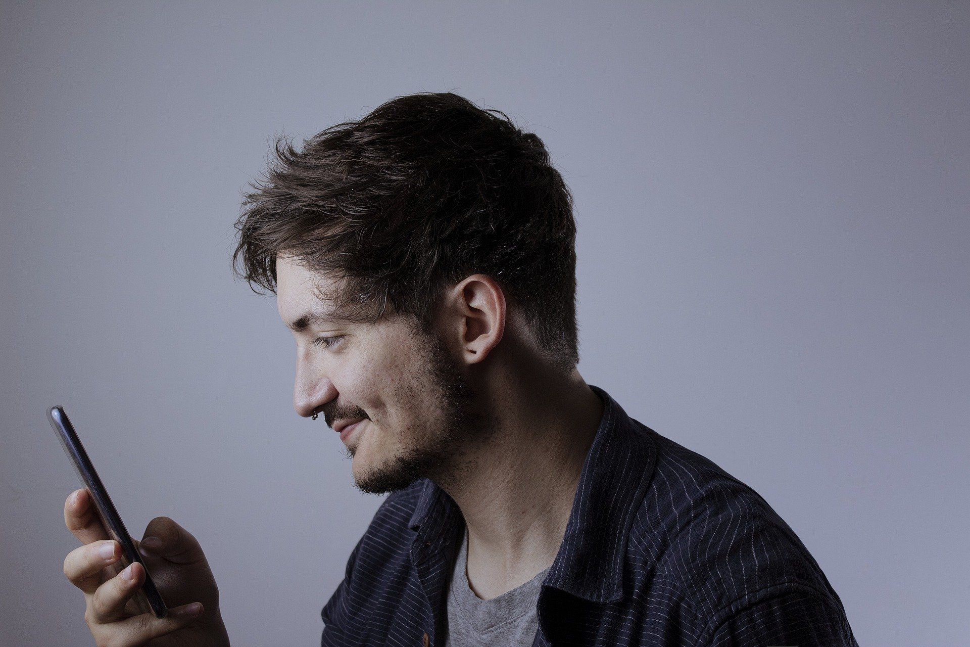 Man calling by smartphone